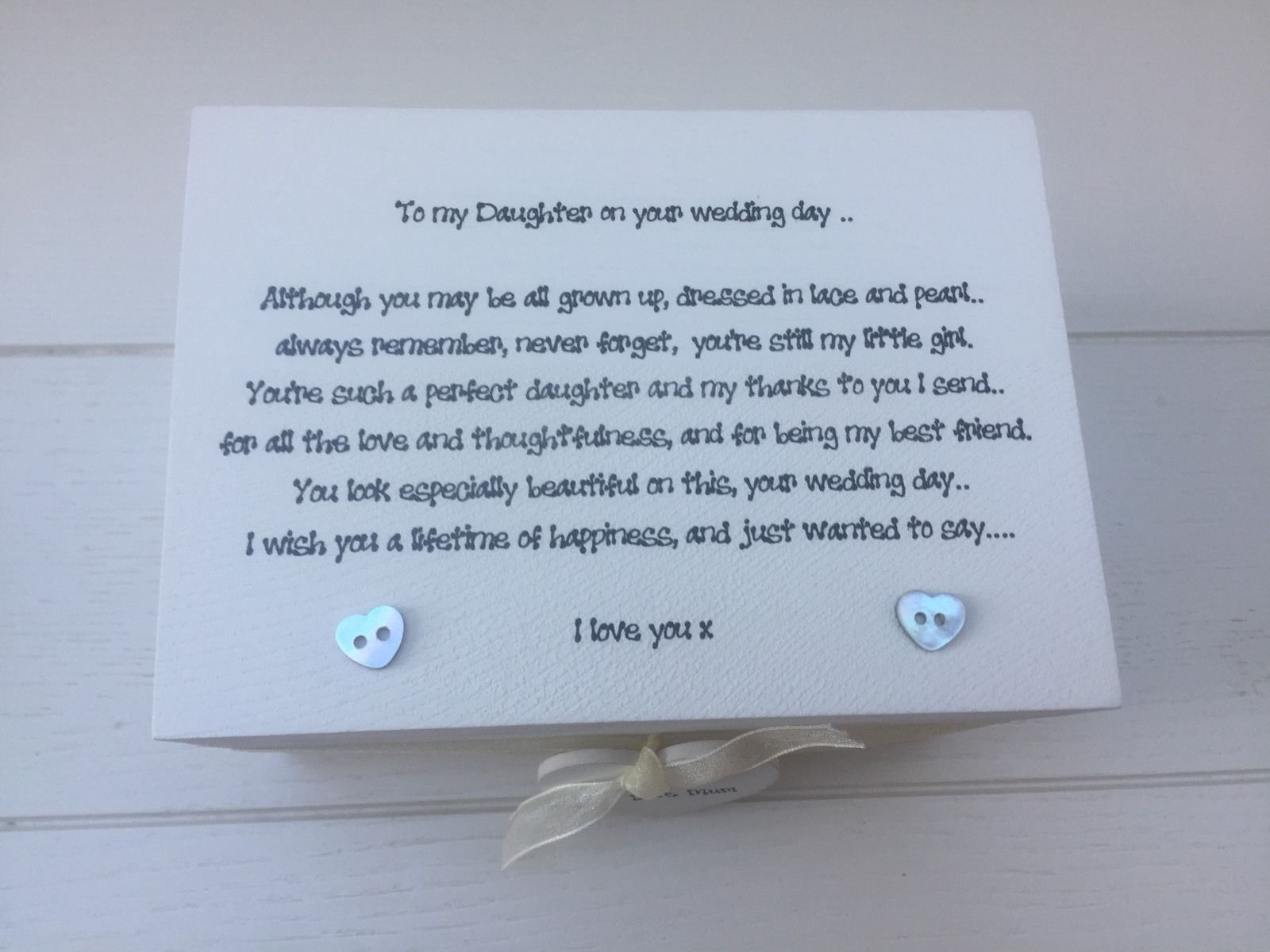 What To Gift A Friend On Her Wedding: Shabby Personalised Chic Daughter On Her Wedding Day Gift